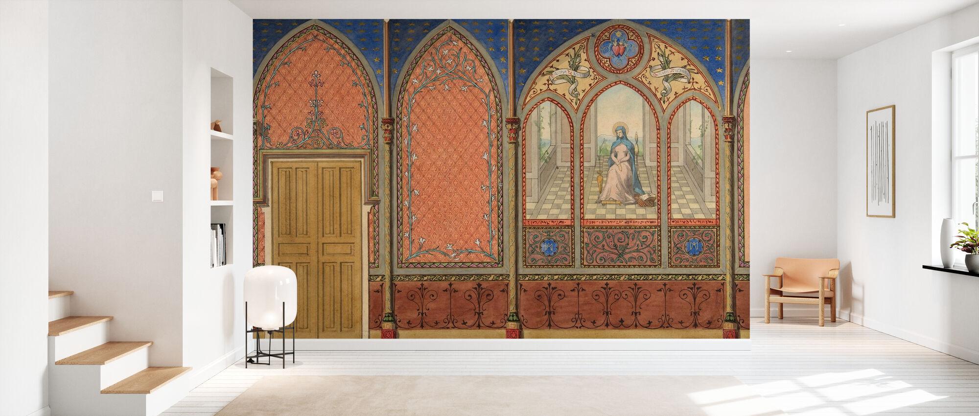 Élévation d'une église - Jules Edmond Charles Lachaise - Papier peint - Entrée