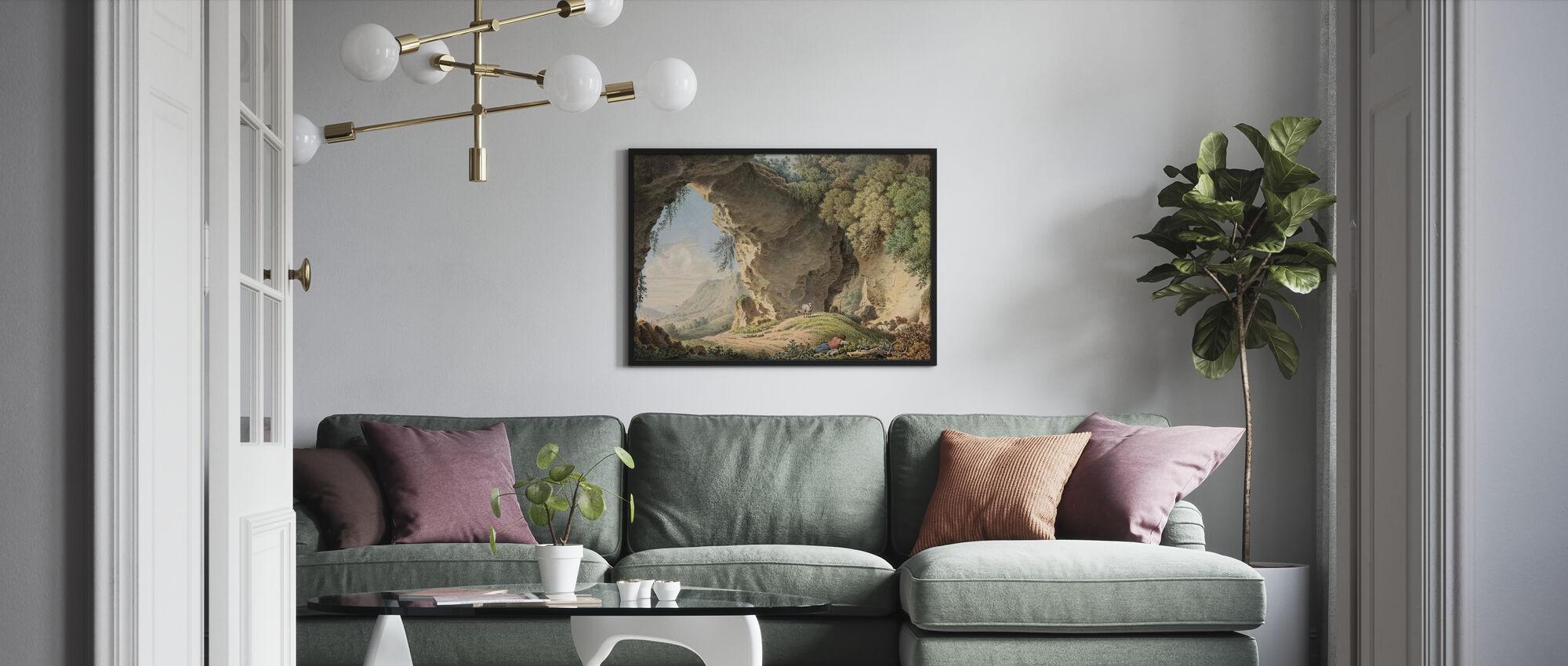 Paysage rocheux - Philip Heinrich Dunker - Affiche - Salle à manger