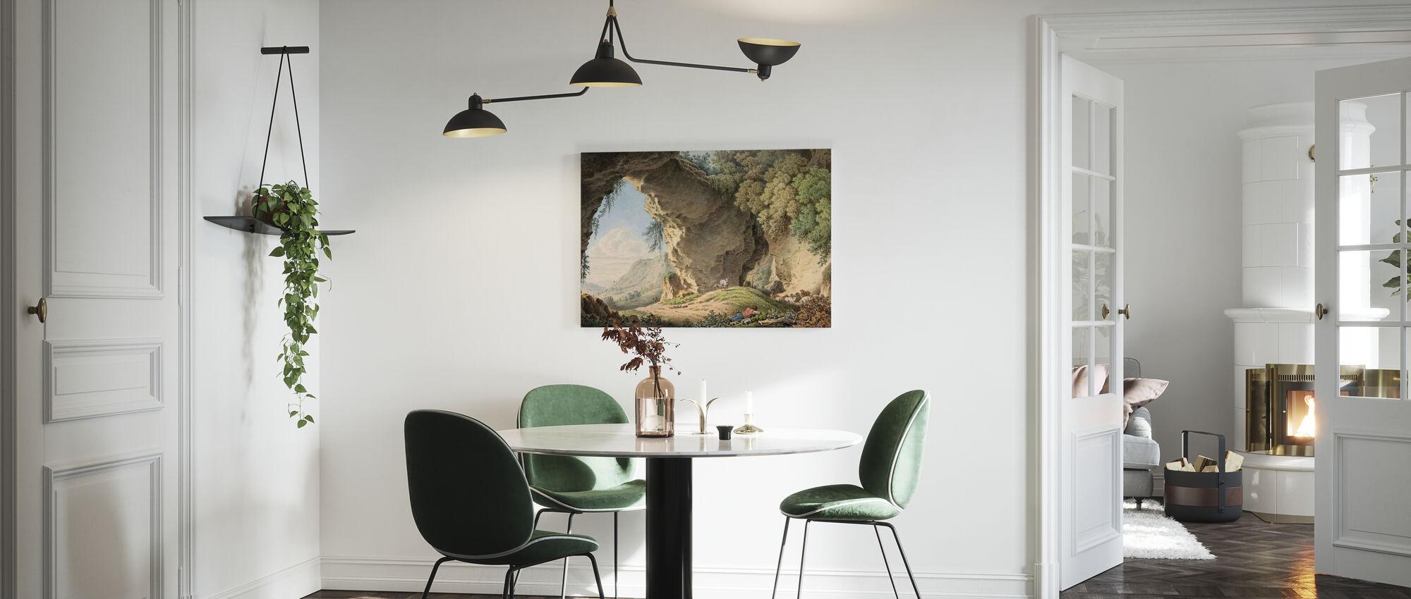 Rocky landskab - Philip Heinrich Dunker - Billede på lærred - Køkken