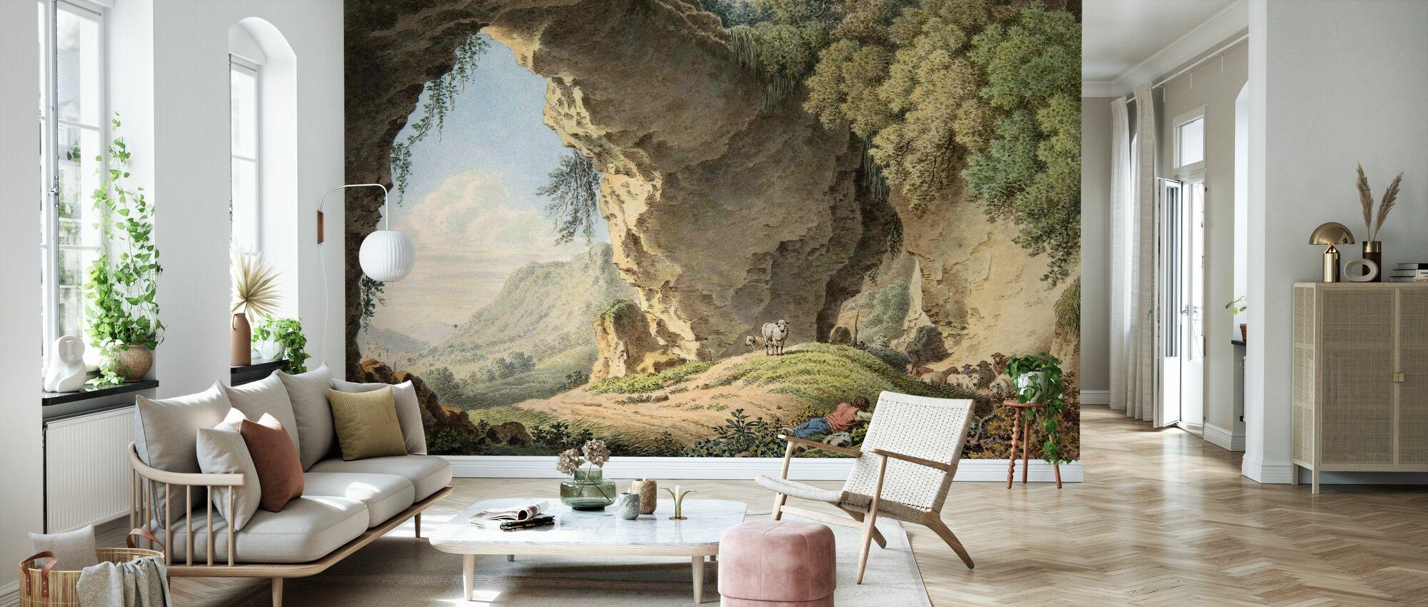 Rocky landskab - Philip Heinrich Dunker - Tapet - Stue