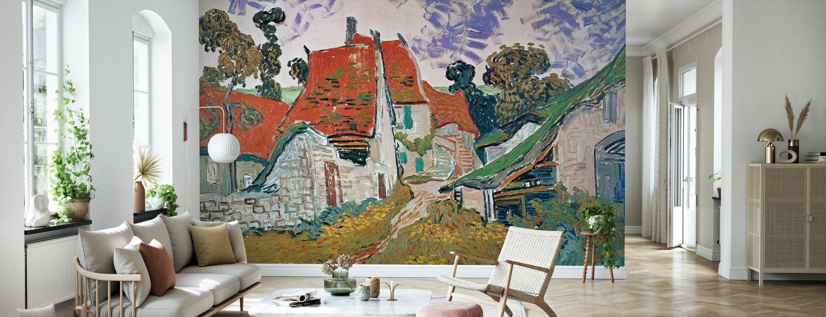 Campo di grano con corvi - Vincent Van Gogh - Carta da parati - Salotto