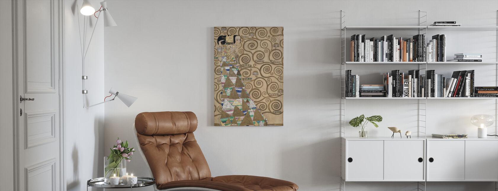 Förväntan - Gustav Klimt - Canvastavla - Vardagsrum