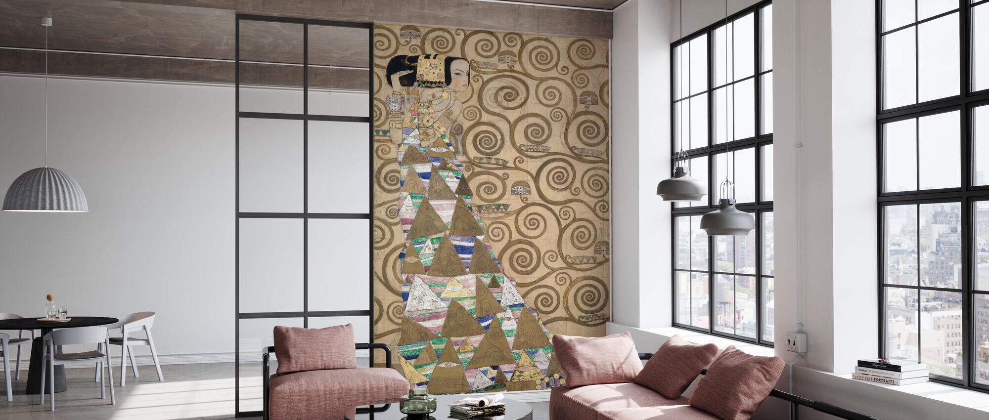 Erwartung - Gustav Klimt - Tapete - Büro