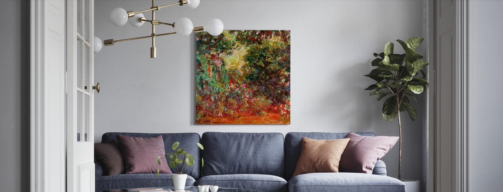 Rozentuin - Claude Monet - Canvas print - Woonkamer