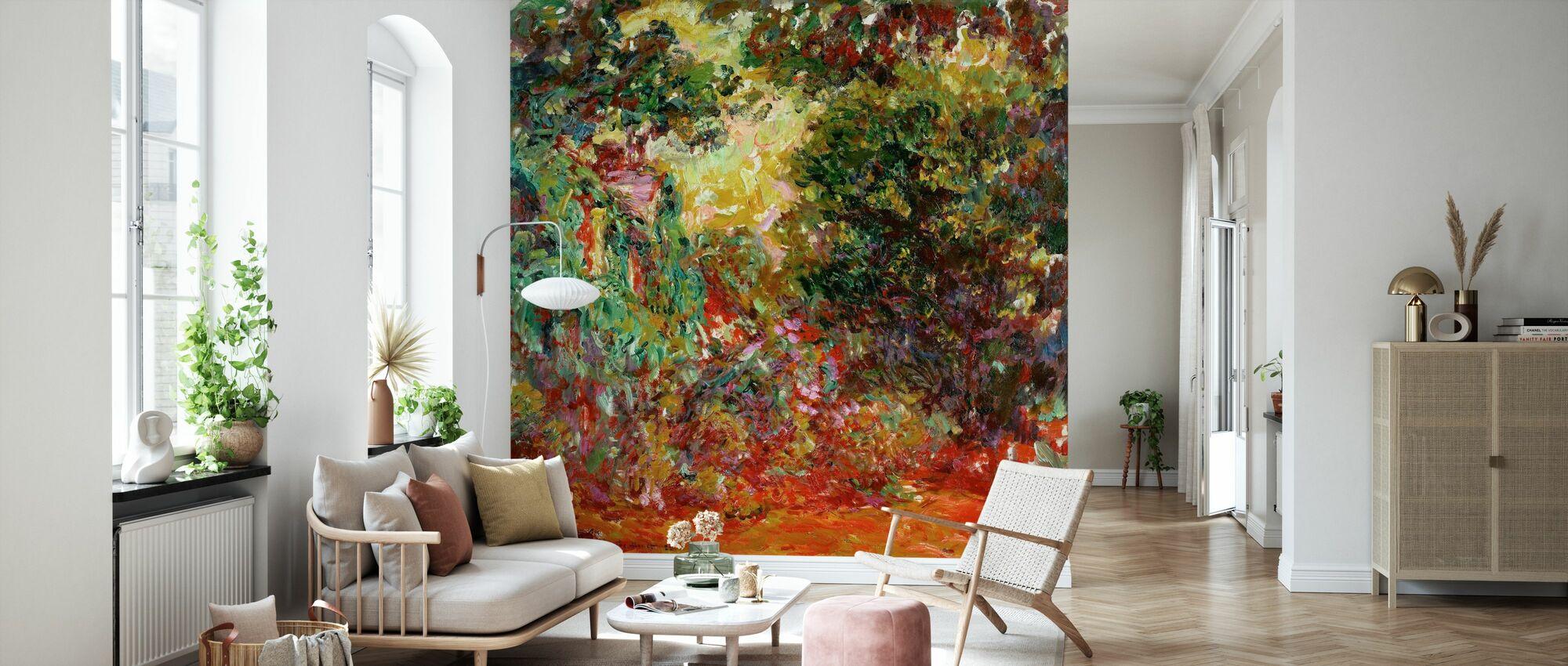 Rose hage - Claude Monet - Tapet - Stue