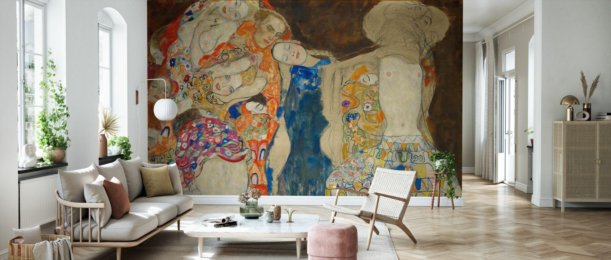 Brud - Gustav Klimt - Tapet - Stue