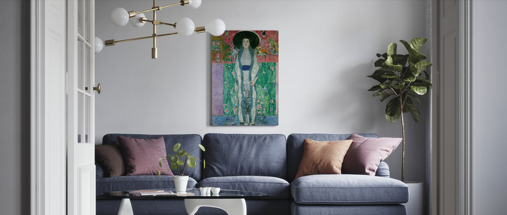 Portrait of Adele Bloch-Bauer - Gustav Klimt - Canvas print - Living Room