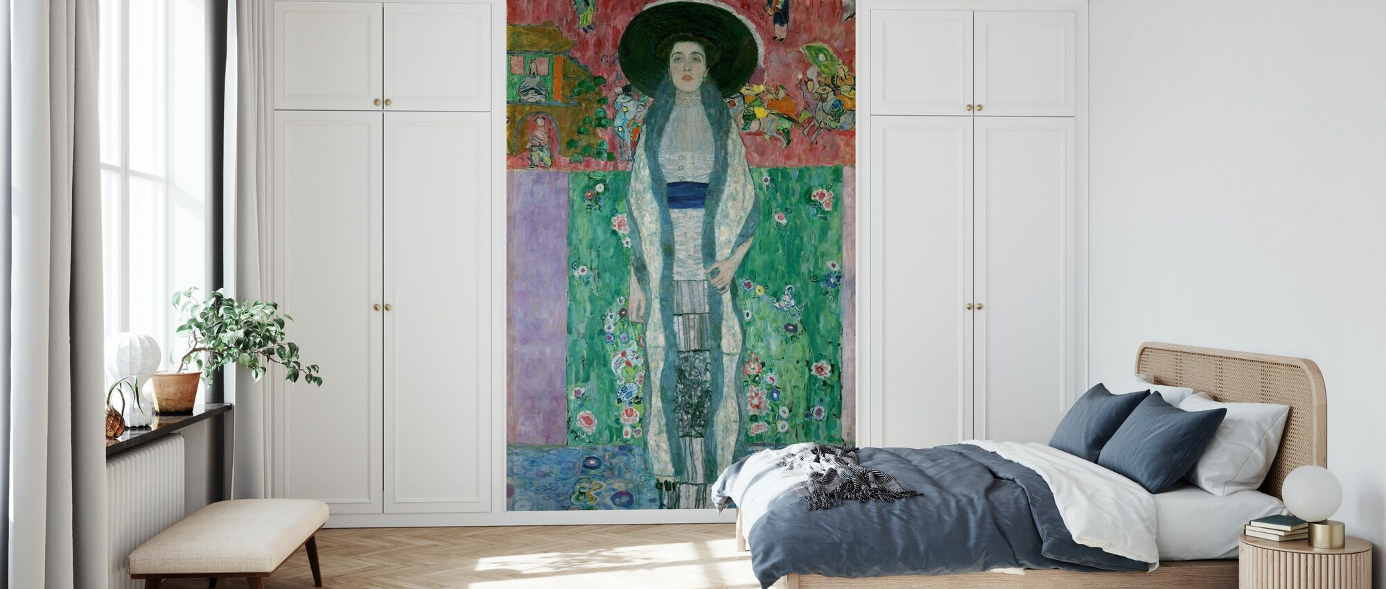 Portrait of Adele Bloch-Bauer - Gustav Klimt - Wallpaper - Bedroom