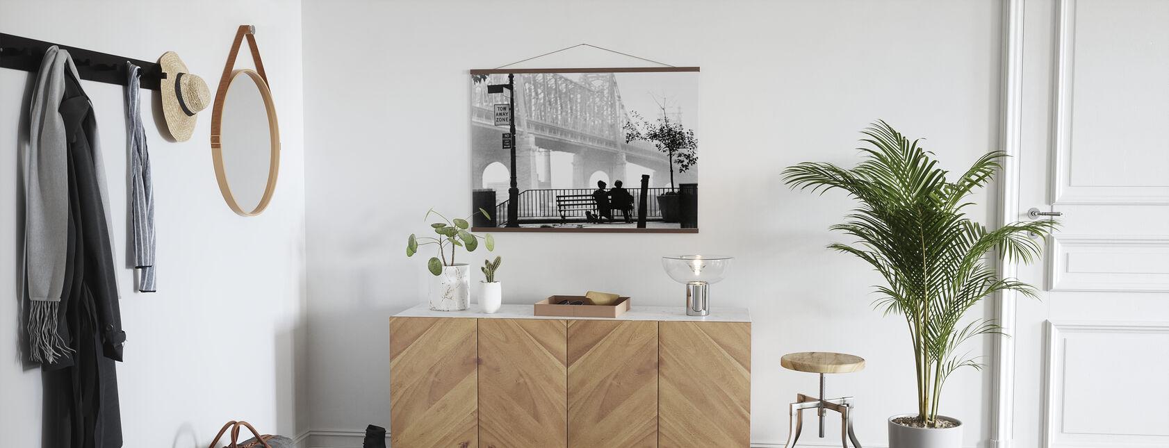 Manhattan - Woody Allen and Diane Keaton - Poster - Hallway