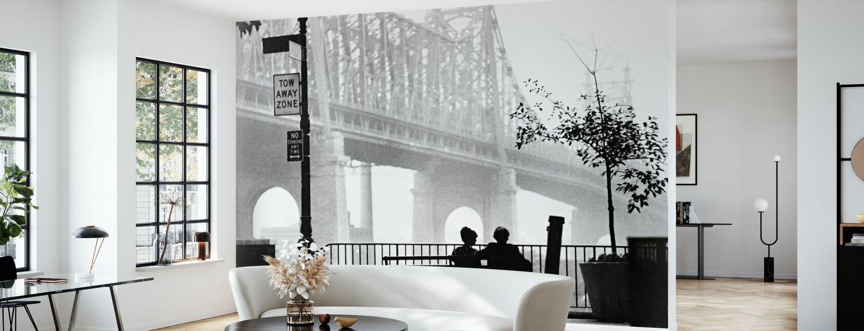 Manhattan - Woody Allen en Diane Keaton - Behang - Woonkamer
