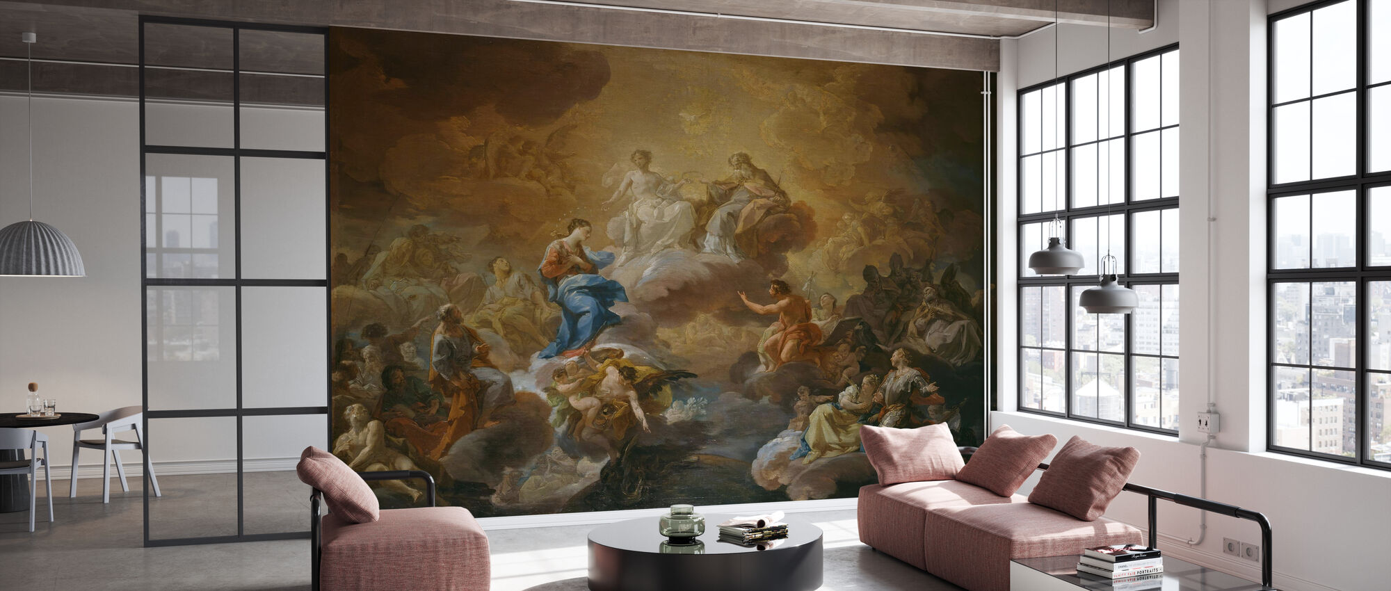 Holy Trinity - Corrado Giaquinto - Wallpaper - Office