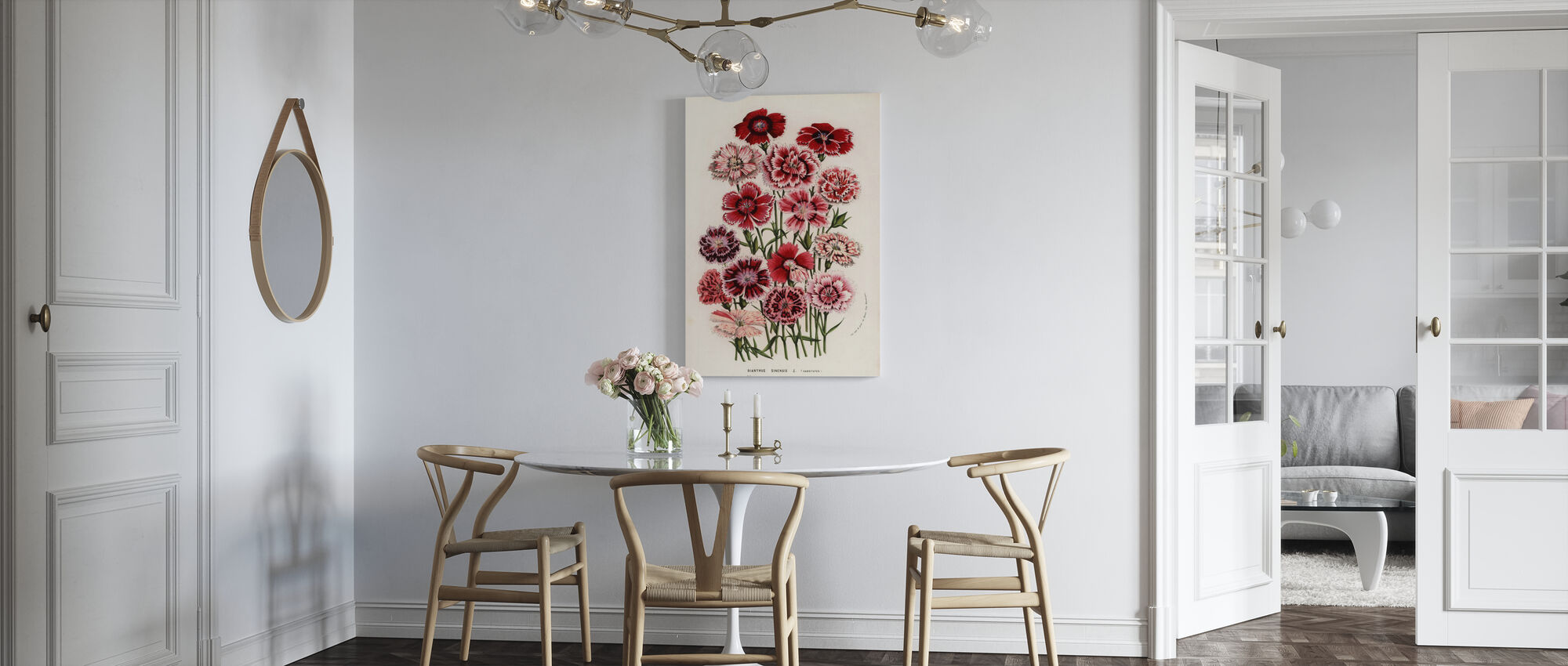 China Pink Flower - Canvas print - Kitchen