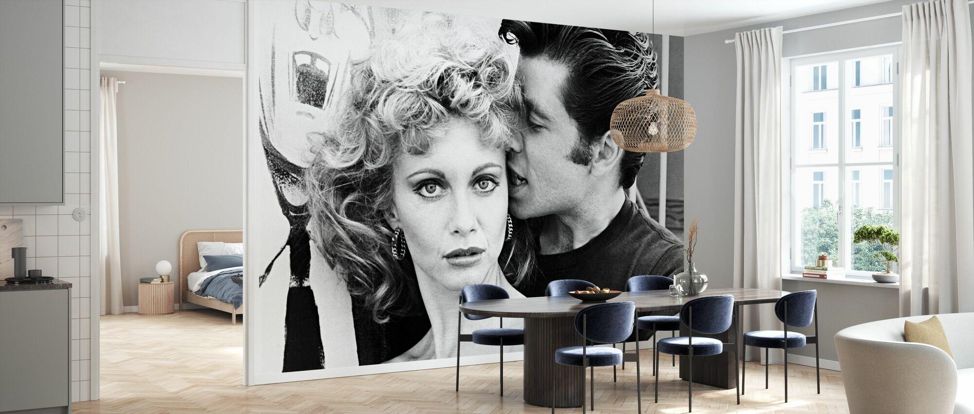 Fett - John Travolta och Olivia Newton John - Tapet - Kök