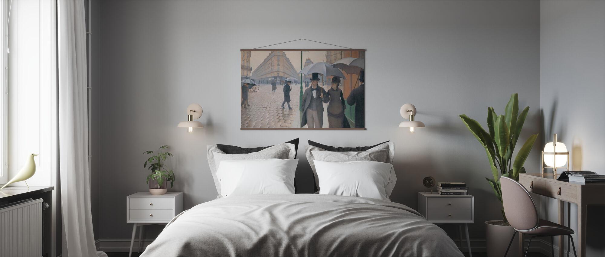 Paris Street - Gustave Caillebotte - Poster - Bedroom