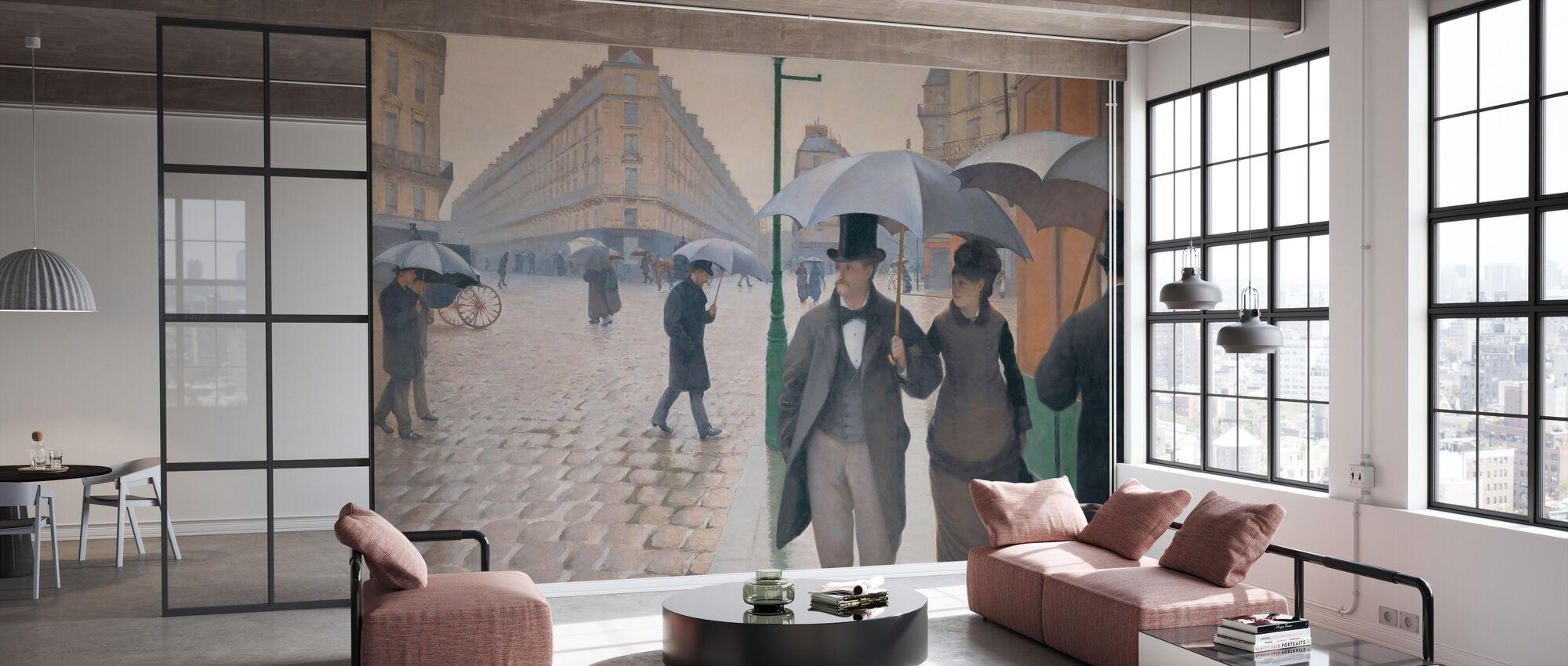 Rue Paris - Gustave Caillebotte - Papier peint - Bureau