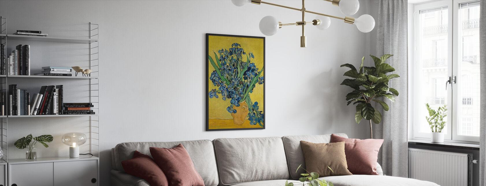 Irissen - Vincent Van Gogh - Ingelijste print - Woonkamer