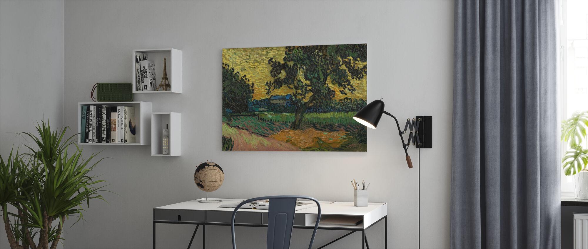 Landschap bij schemering - Vincent Van Gogh - Canvas print - Kantoor