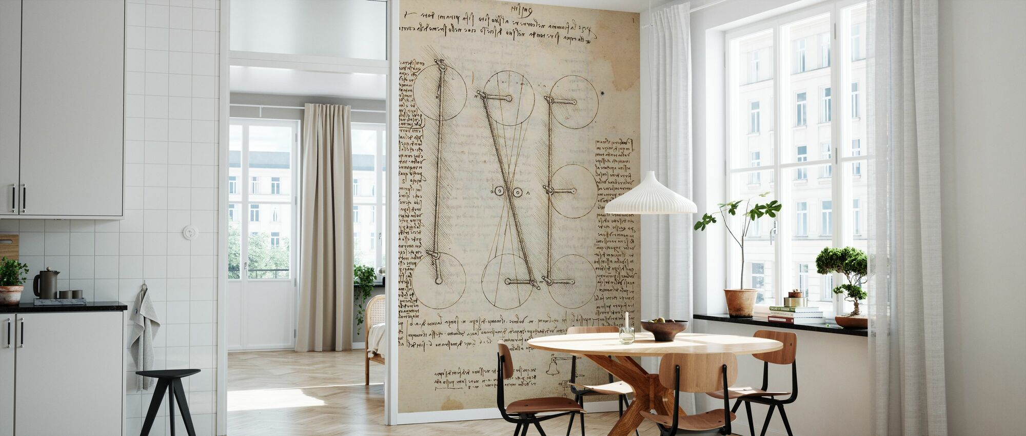 Codex Madrid I - Leonardo da Vinci - Wallpaper - Kitchen