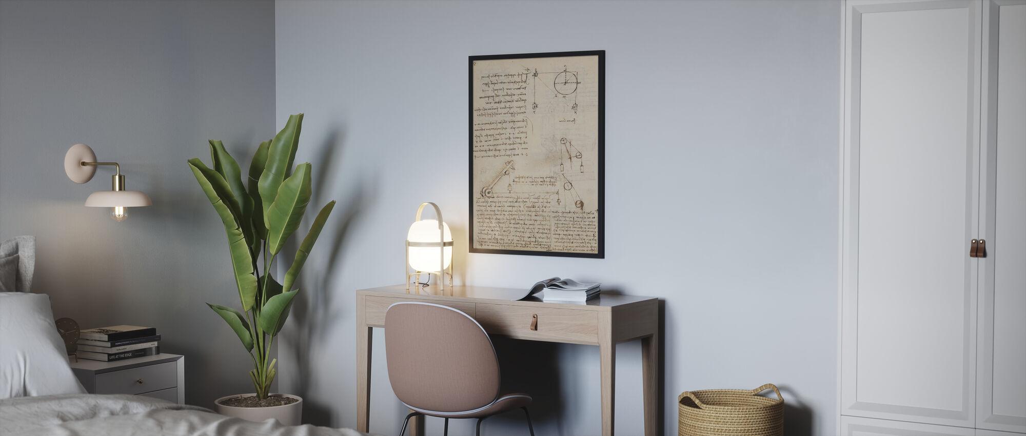 Codex Madrid II - Leonardo da Vinci - Poster - Bedroom