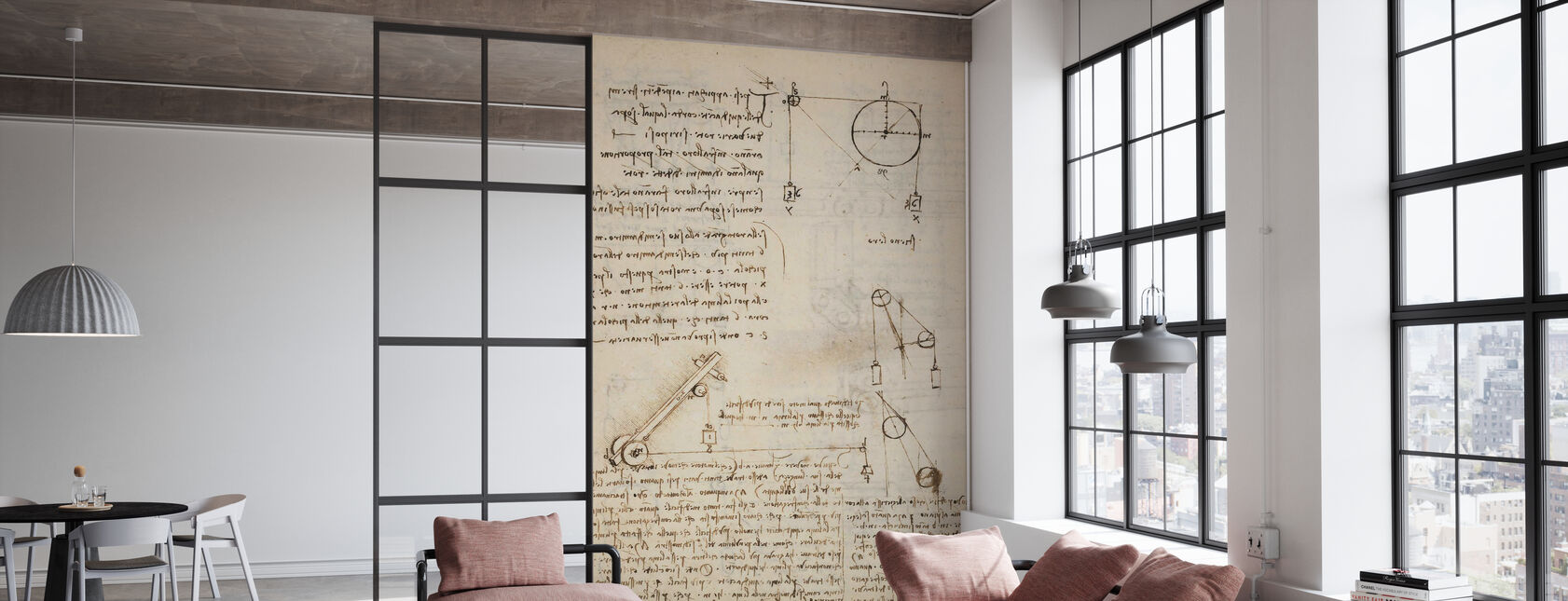 Codex Madrid II - Leonardo da Vinci - Wallpaper - Office