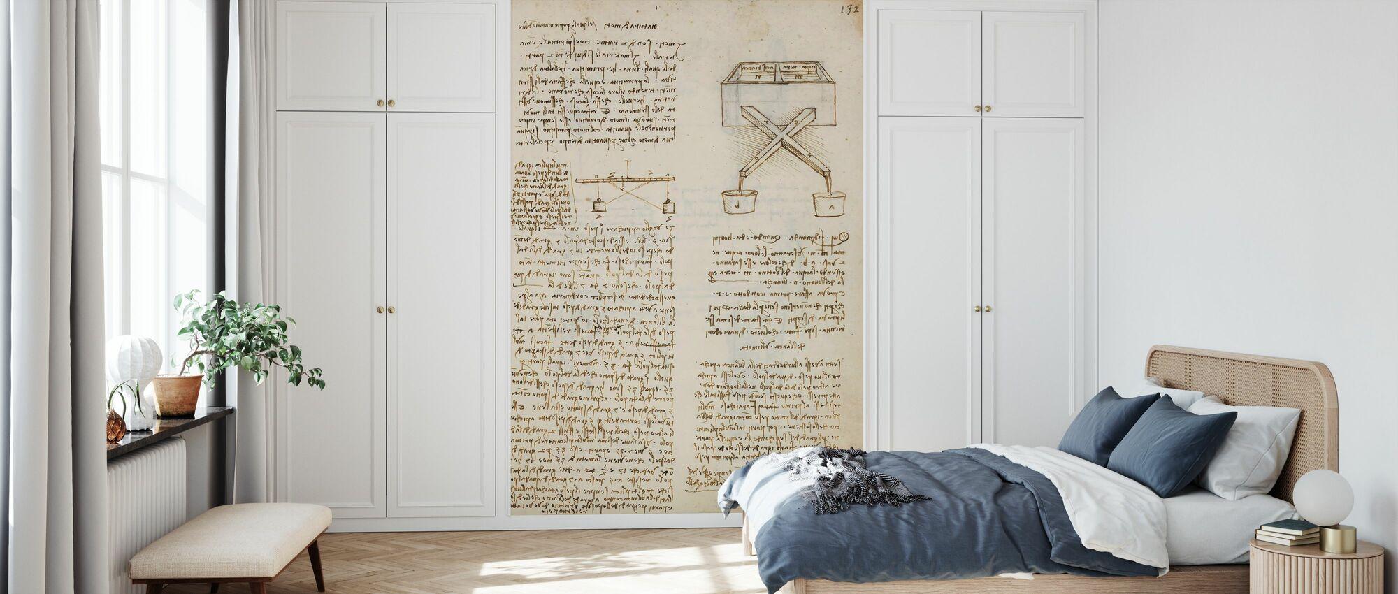 Codex Madrid III - Leonardo da Vinci - Wallpaper - Bedroom