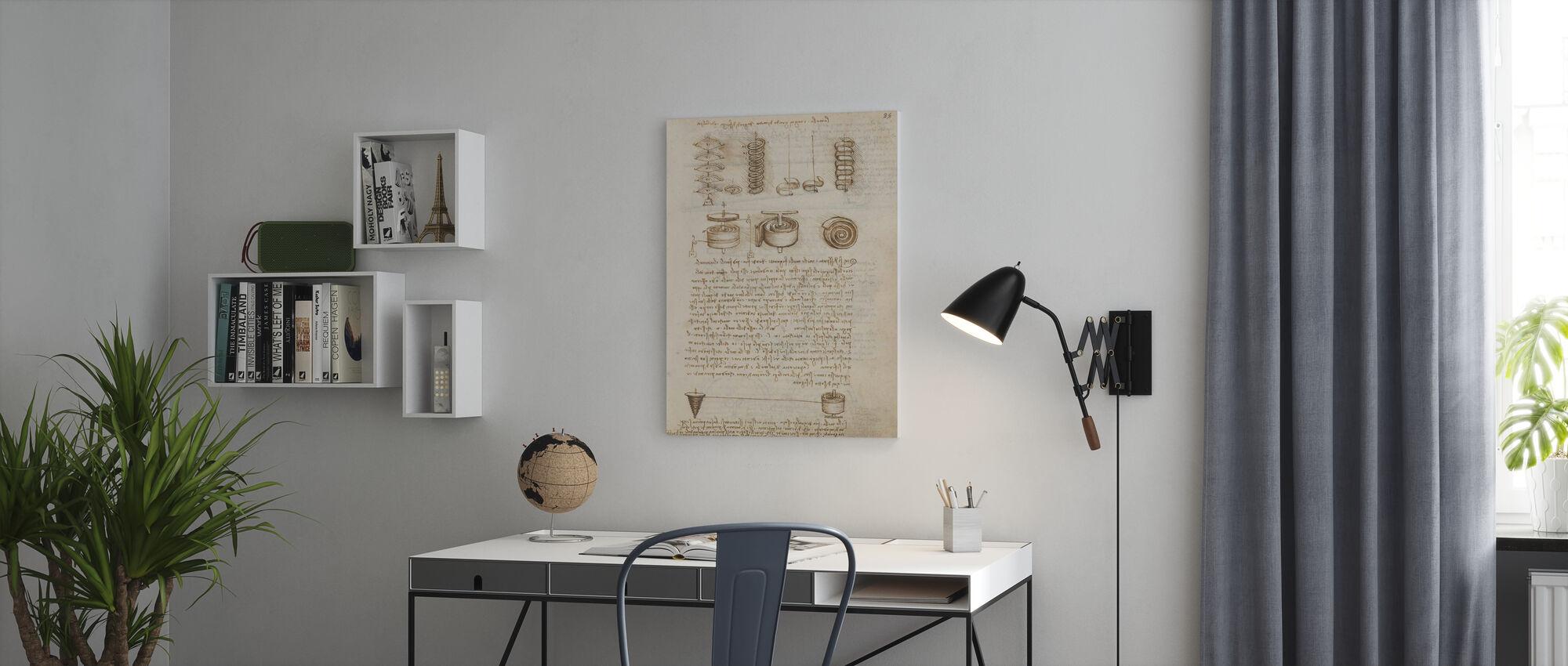 Codex Madrid IV - Leonardo da Vinci - Canvas print - Office