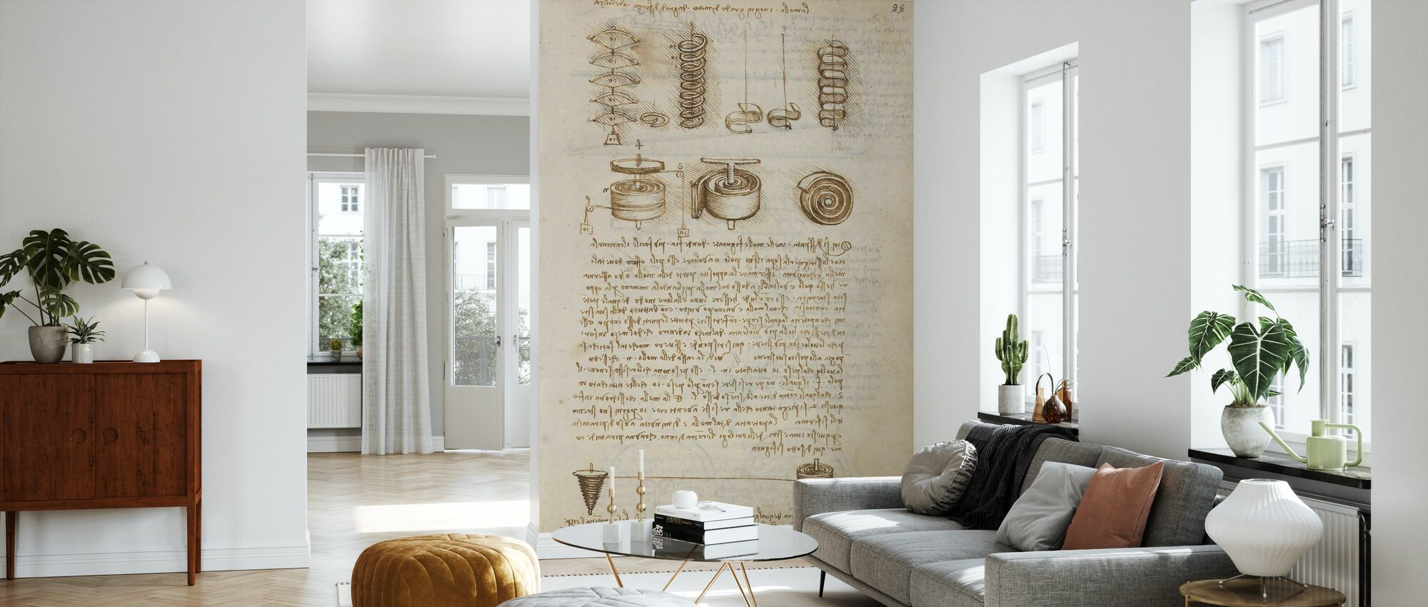 Codex Madrid IV - Leonardo da Vinci - Wallpaper - Living Room
