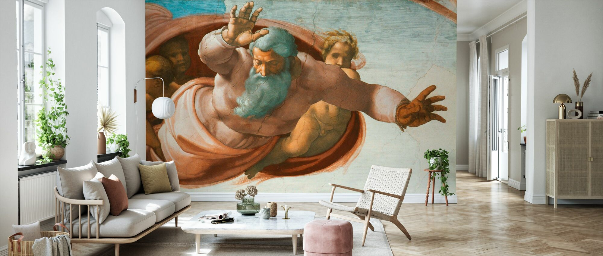 Sistine Chapel - Michelangelo Buonarroti - Wallpaper - Living Room