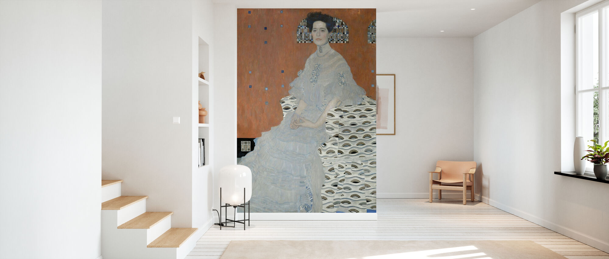 Fritza Riedler - Gustav Klimt - Behang - Gang