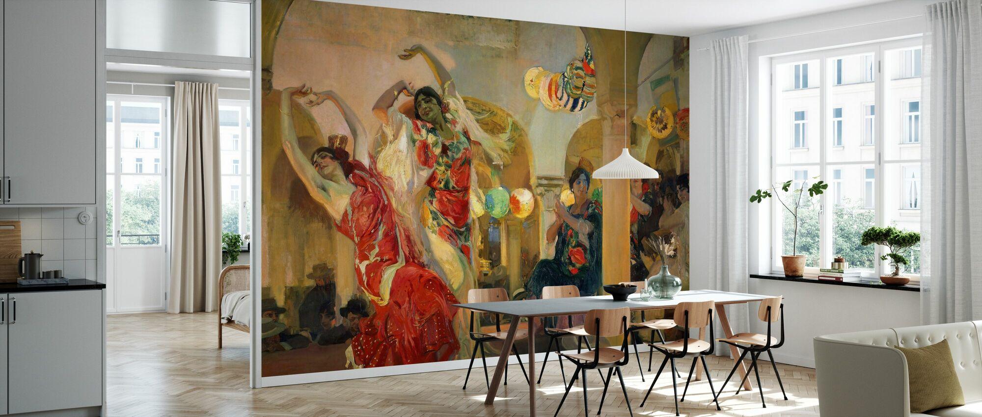 Frauen tanzen - Joaquin Sorolla - Tapete - Küchen