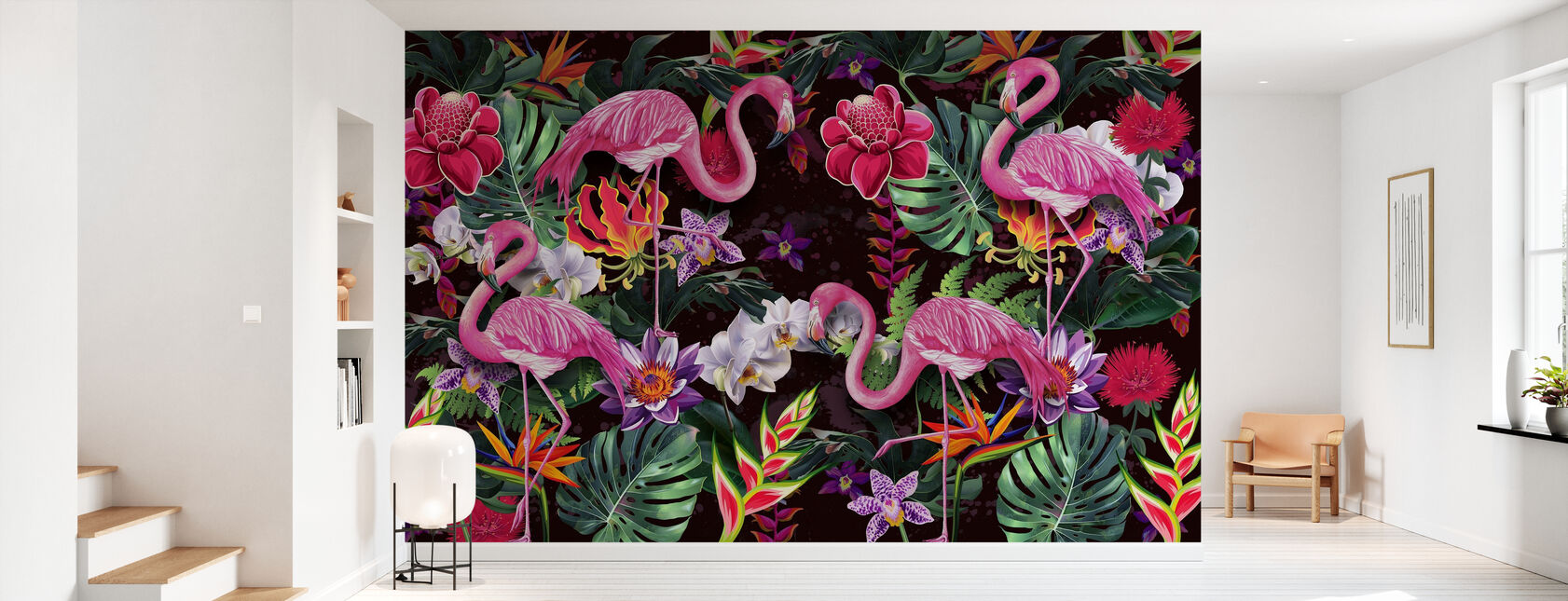 Pink Flamingos - Wallpaper - Hallway