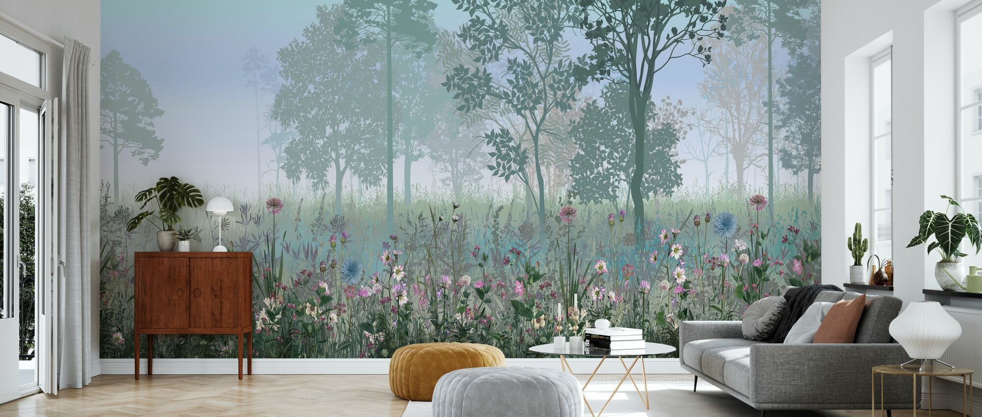 Hazy Forest - Wallpaper - Living Room