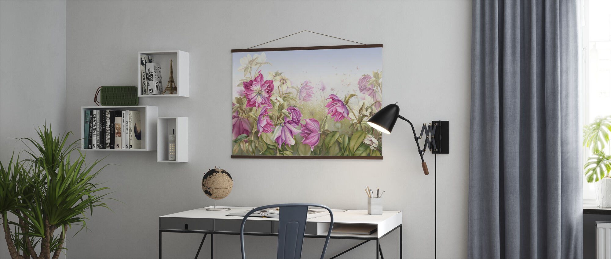 Purple Lily Flowers - Poster - Office