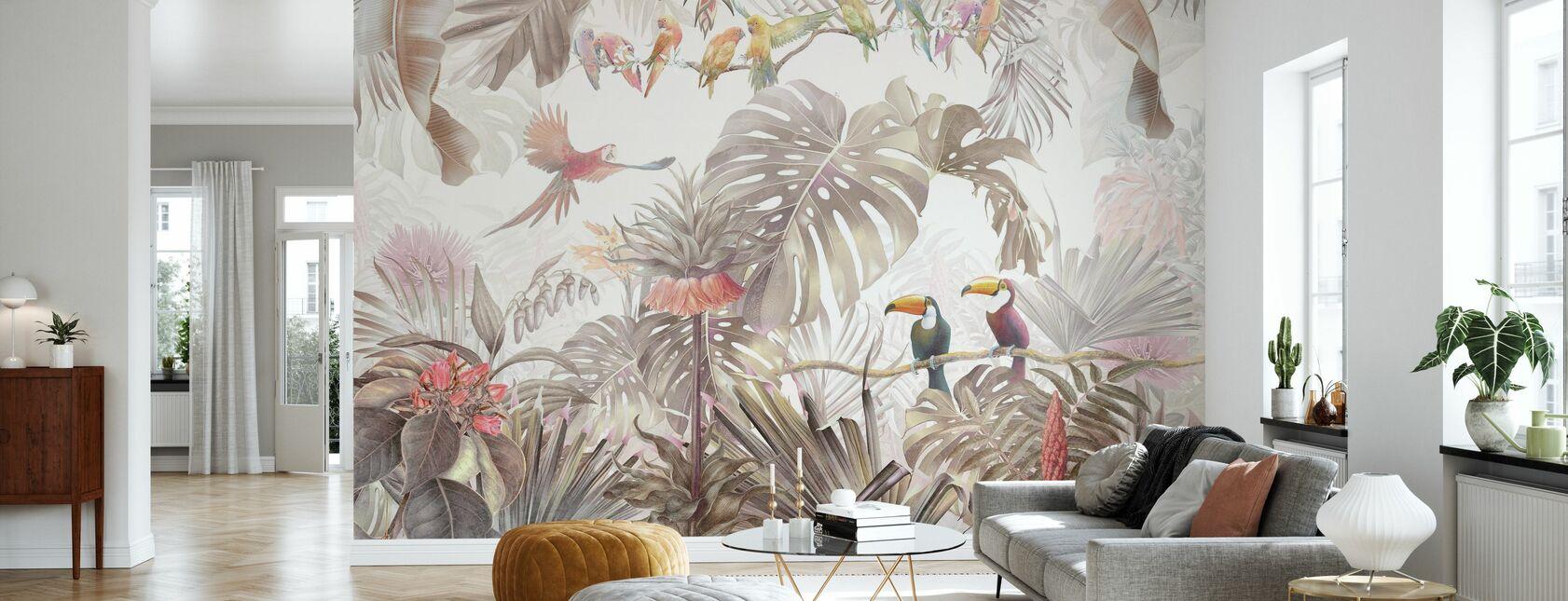 Aves Tropicales - Papel pintado - Salón