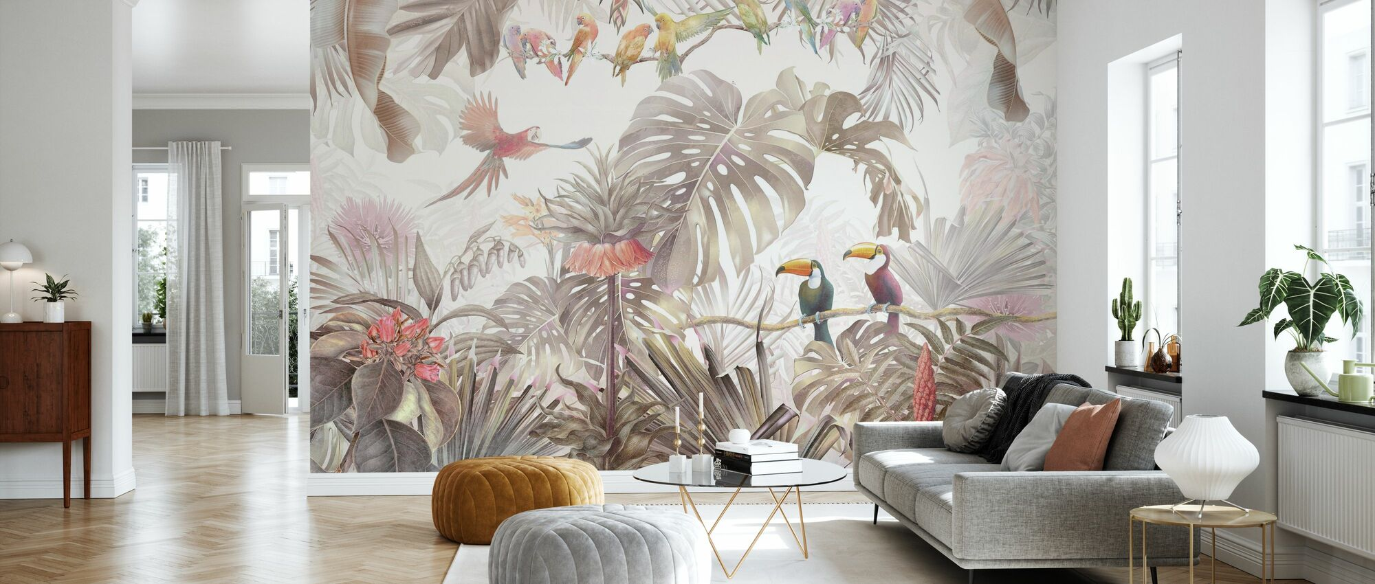Tropical Birds - Wallpaper - Living Room