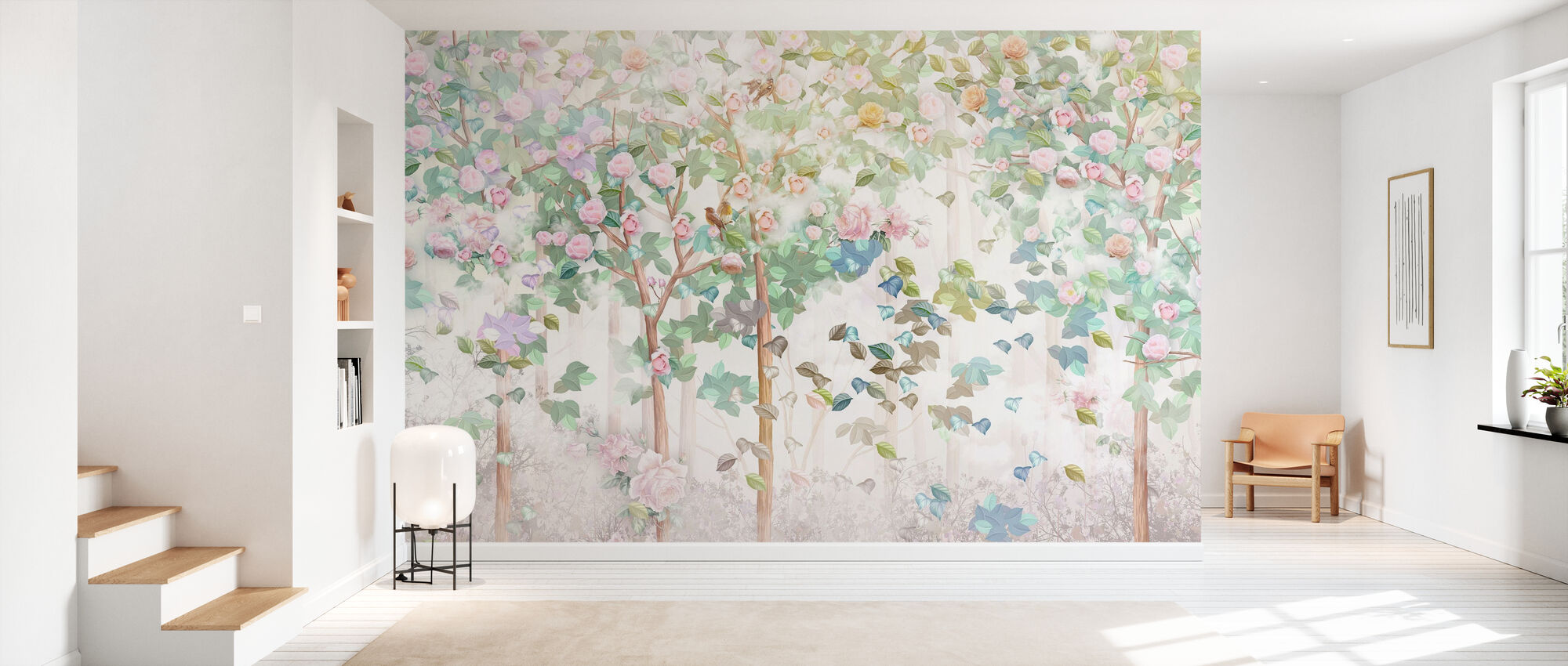 Trees in Bloom - Wallpaper - Hallway