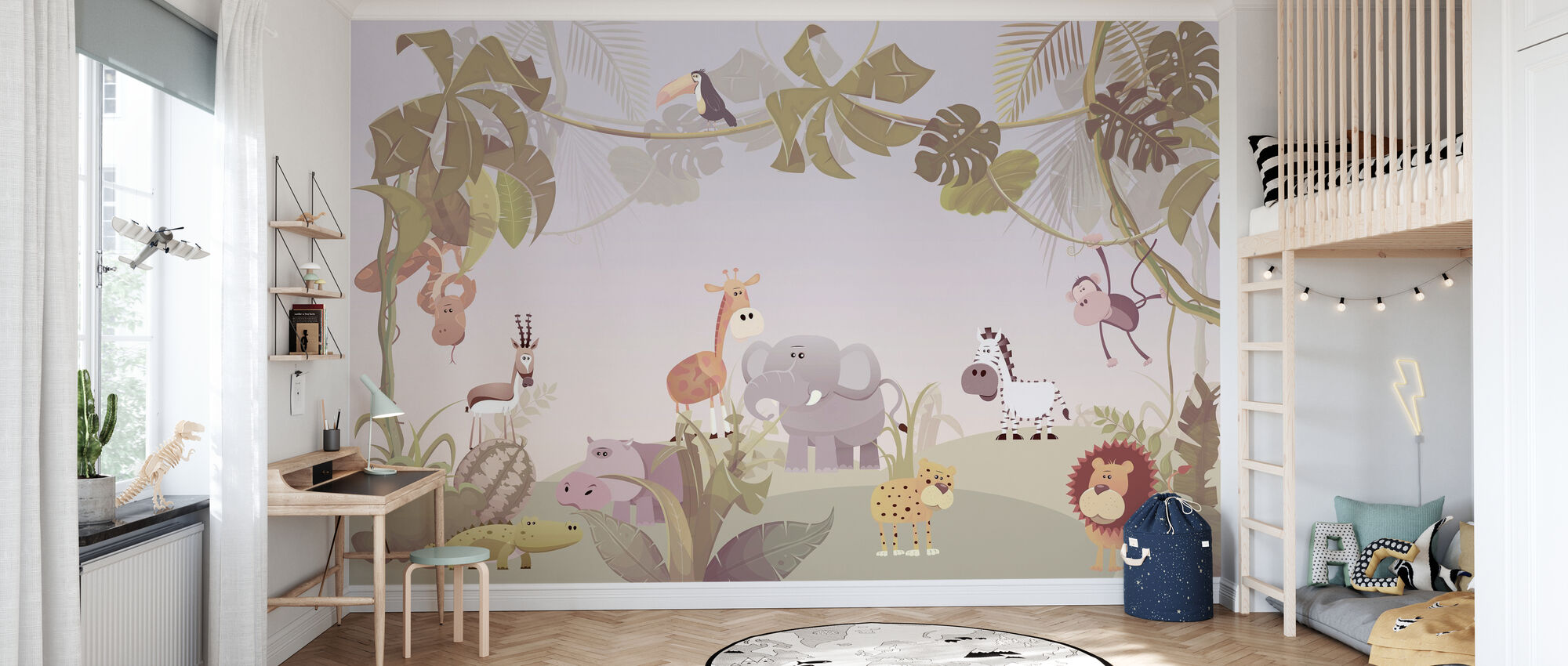 Savanna Animals - Wallpaper - Kids Room