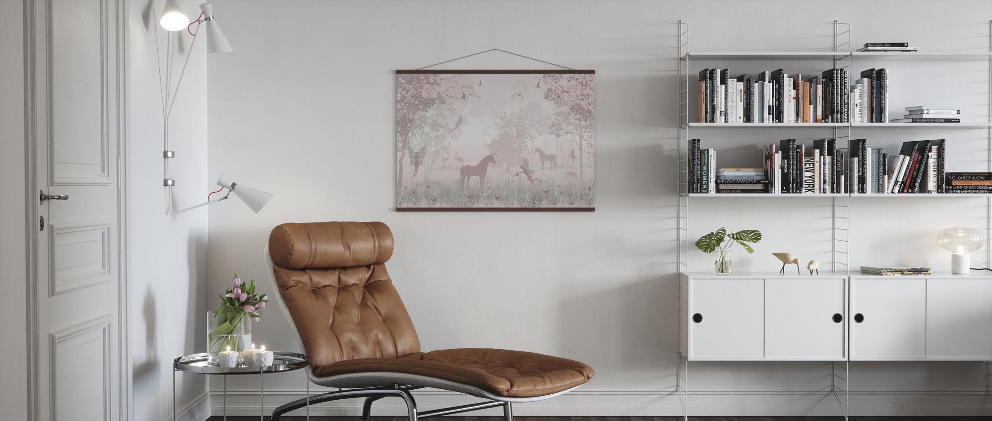 Einhörner und Feen - Poster - Wohnzimmer