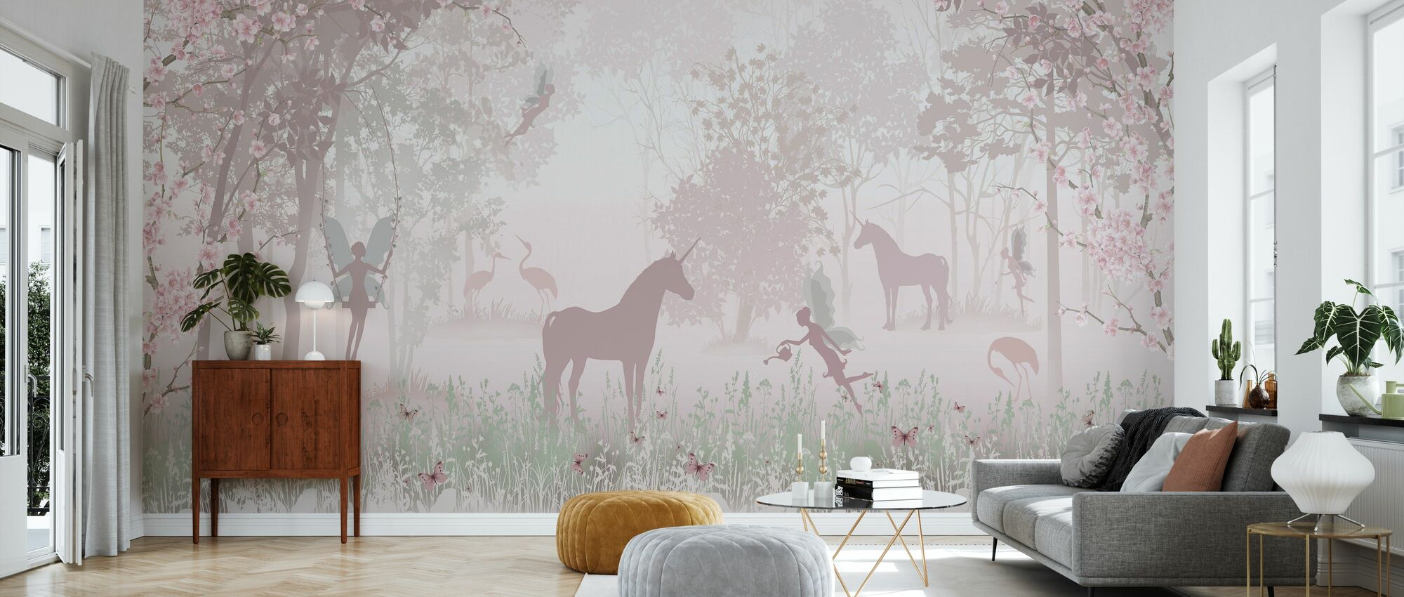 Unicorns and Fairies - Wallpaper - Living Room
