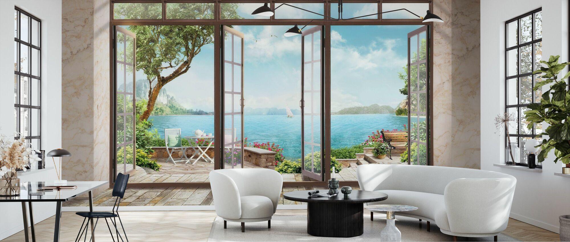 Rum med utsikt - Tapet - Vardagsrum