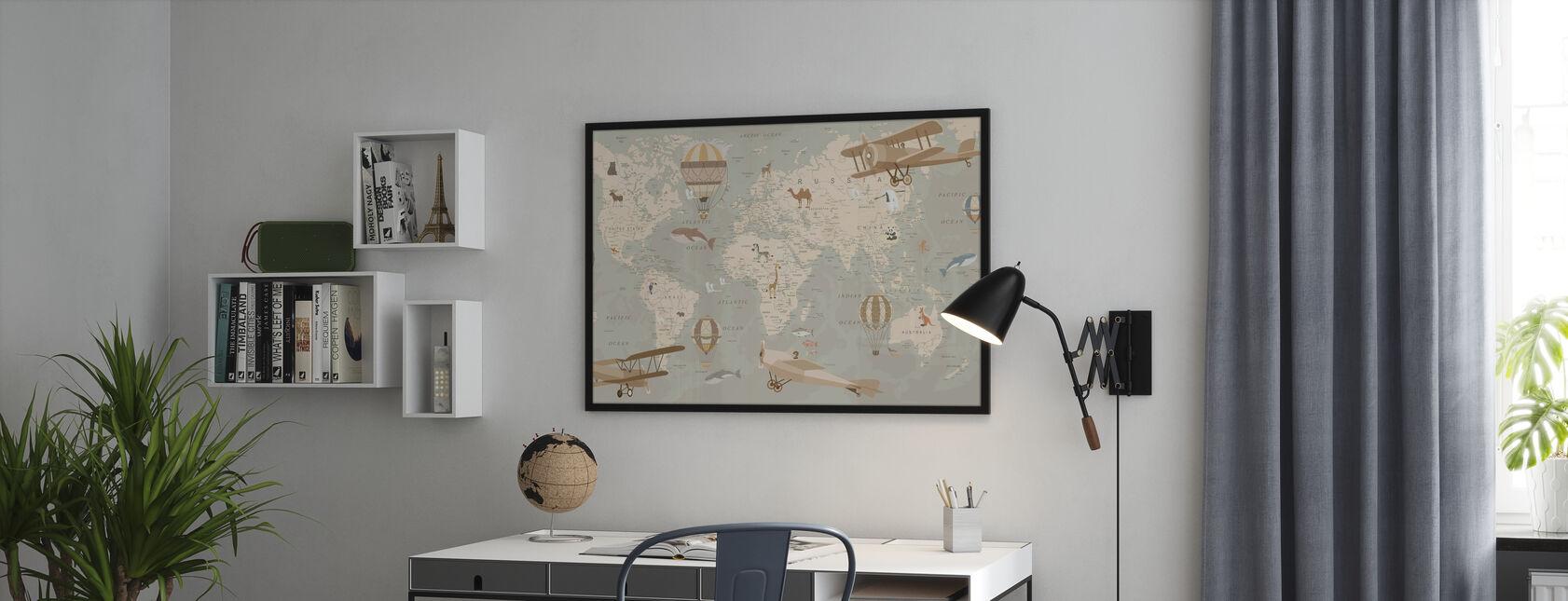 Mappa Explorer - Stampa incorniciata - Uffici