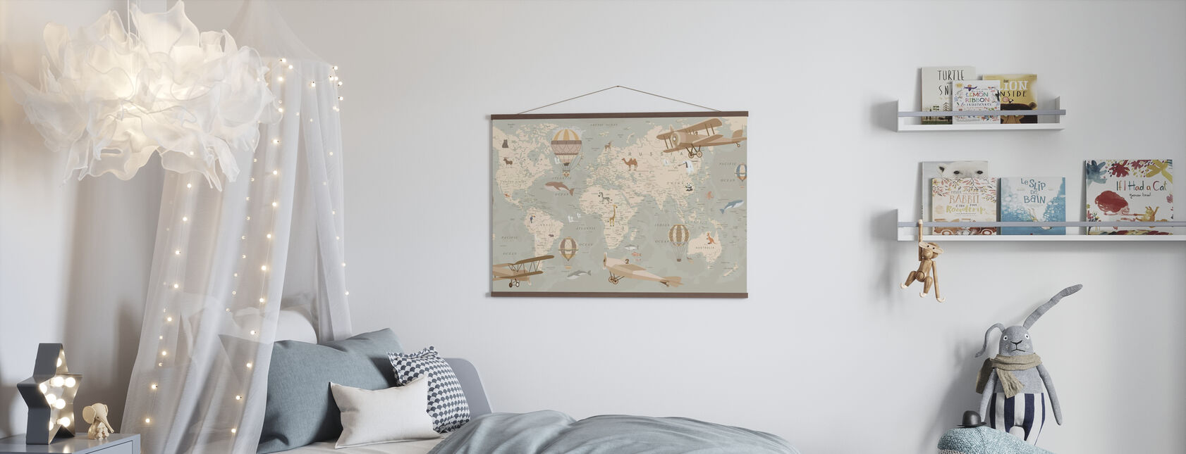 Explorer Map - Poster - Kids Room