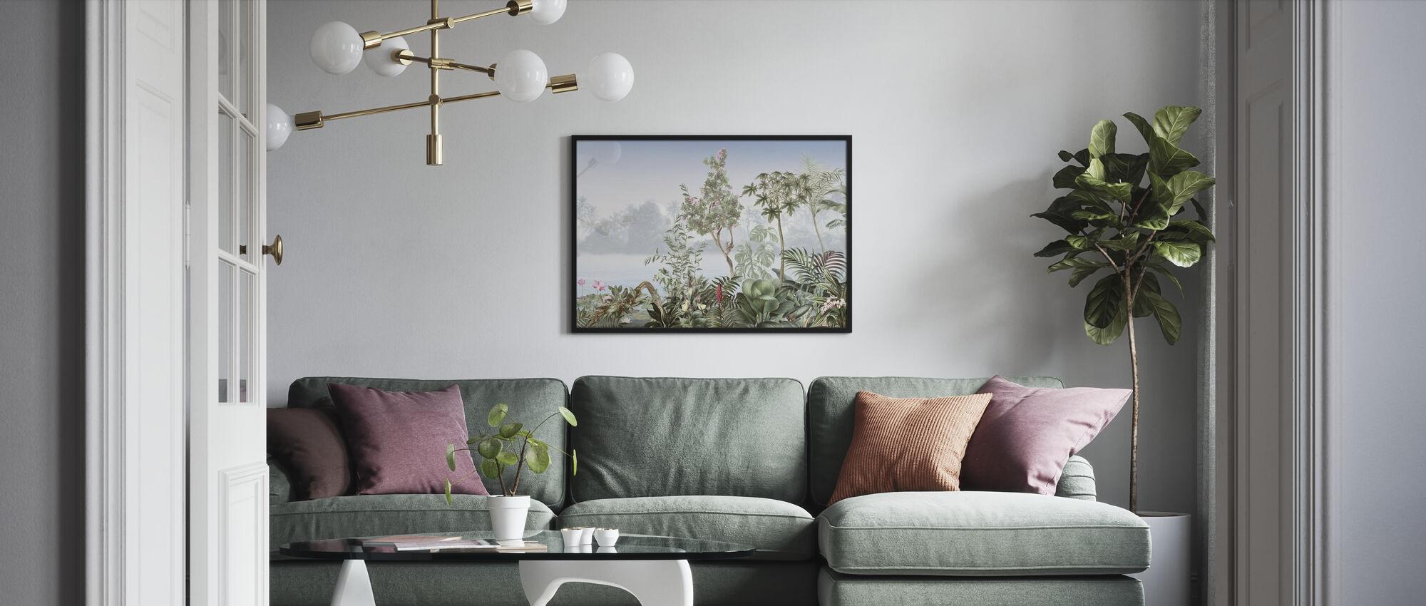 Tropische bomen - Ingelijste print - Woonkamer