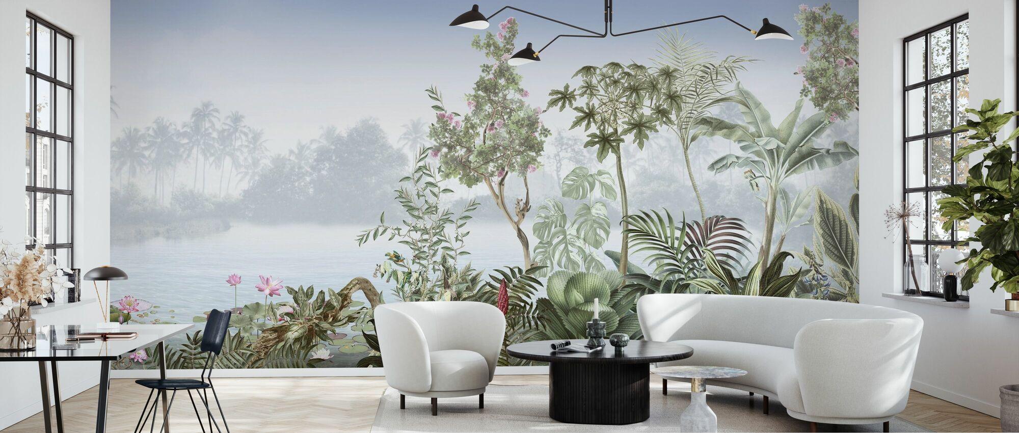 Tropiske træer - Tapet - Stue