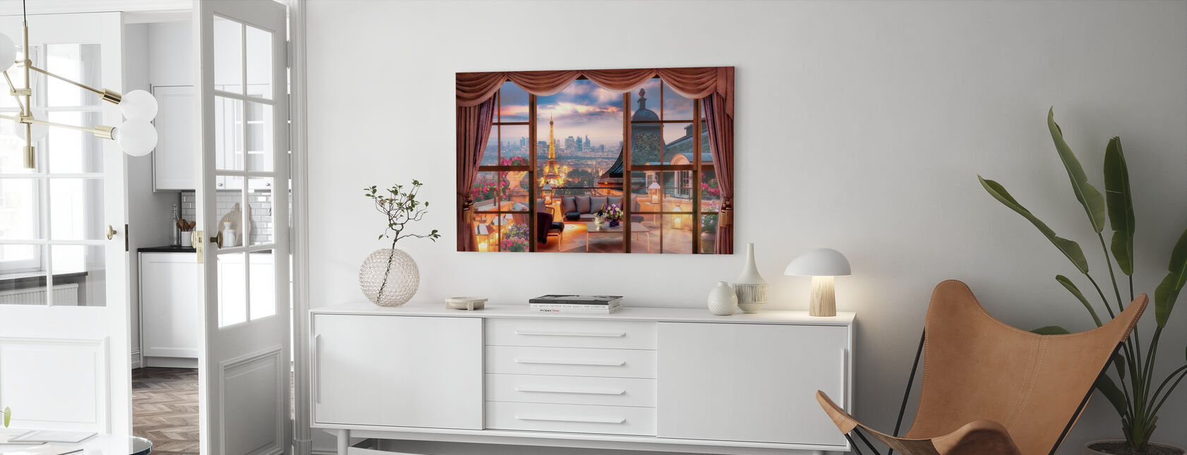Utsikt över Paris - Canvastavla - Vardagsrum