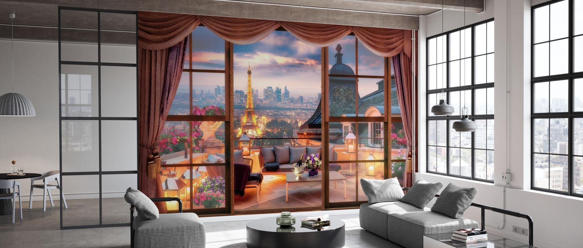 View over Paris - Wallpaper - Office