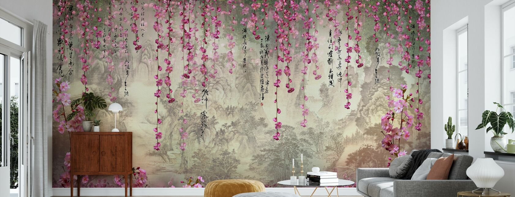 Hangning Flowers - Wallpaper - Living Room