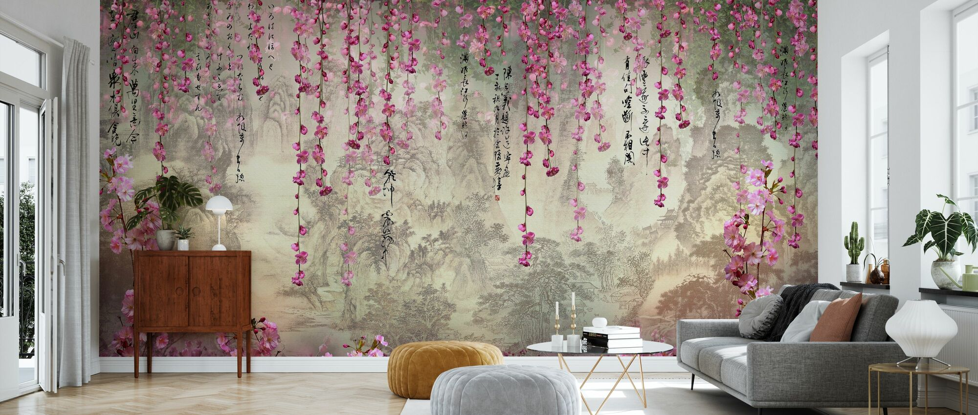 Hangning Flowers - Wallpaper - Living Room