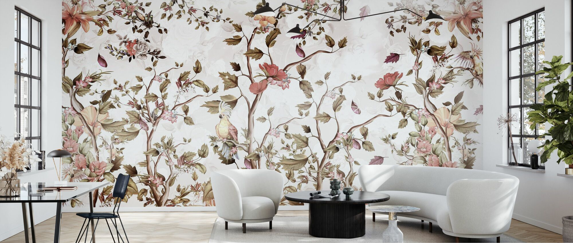 Parrot in Blossom - Wallpaper - Living Room