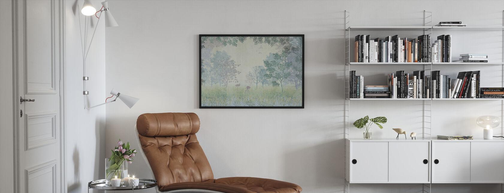 Flamingoer i tåget skov - Plakat - Stue